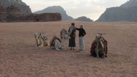 Im Wadi Rum - Wüstenlandschaft Wadi Rum