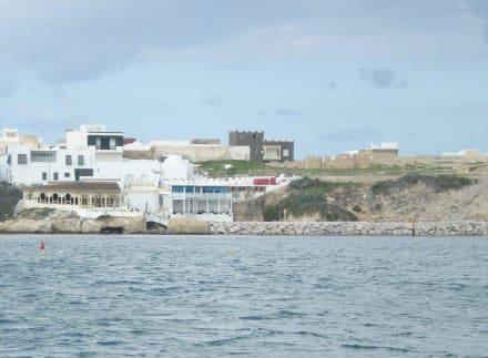 Blick vom Meer - Café Sidi Salem