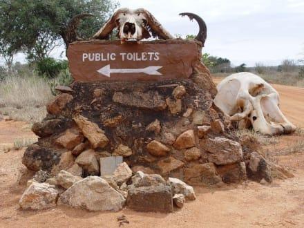 Weg auf der Toilette - Tsavo Ost Nationalpark