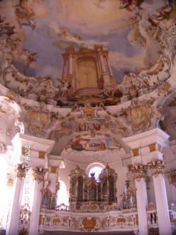 TeilKuppel mit Orgel - Wieskirche
