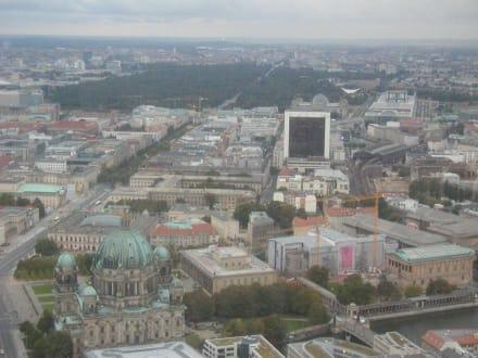 Ausblick vom Fernsehturm - Berliner Fernsehturm