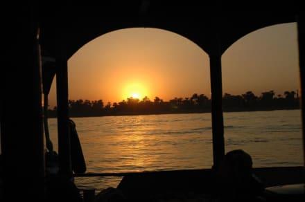 Sonnenuntergang am Nil - Nil