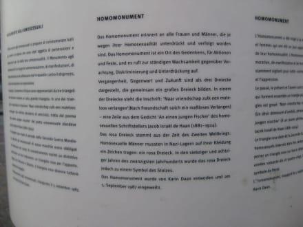 Erklärung Homomonument - Homomonument