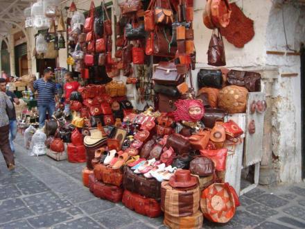 Ledertaschen ohne Ende - Altstadt Tunis