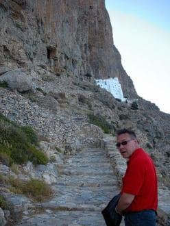 Der Aufstieg zum Kloster - Chora von Amorgos