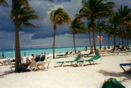 Am Strand von Playa del Carmen - Strand Playa del Carmen/Playacar