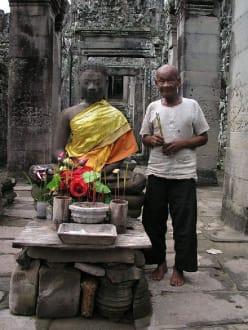Alter Mann. - Tempel Angkor Thom