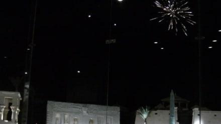 Feuerwerk am ende der Show  - 1001-Nacht-Show