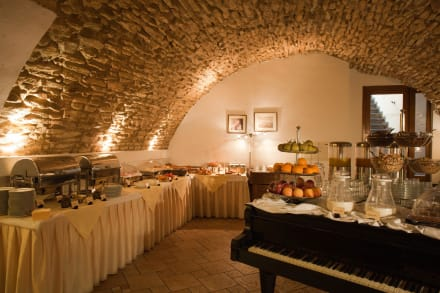 Breakfast is served in historical cellar -