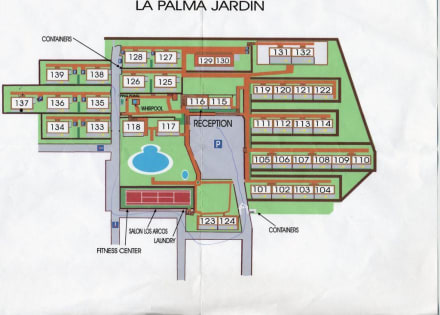 lageplan der h user bild hotel la palma jardin in el paso la palma spanien. Black Bedroom Furniture Sets. Home Design Ideas