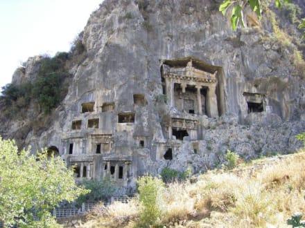 Lykische Felsengräber in Fethiye - Lykische Felsengräber von Fethiye