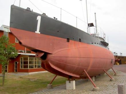 Das erste U-Boot der schwedischen Marine - Marinemuseum