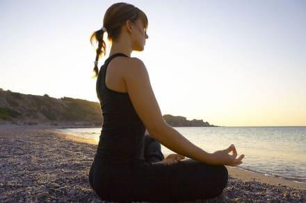 Yoga at the beach -