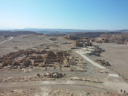 Masada,weitläufige Wehranlage - Masada