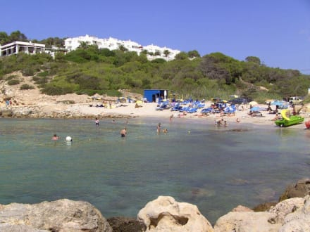 Teilansicht Cala Codolar - Strand Cala Codolar