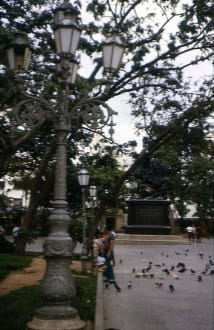 Des Denkmal mit dem Reiter Simon Bolivar - Reiter-Denkmal Simon Bolivar
