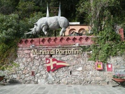 Landgang in Portofino - Yachthafen Portofino