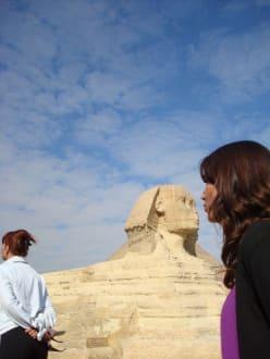 Kairo Ausflug, mit Eti - Sphinx von Gizeh