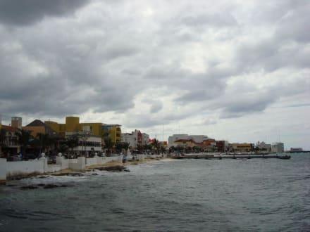 Küste neben Fähranlegestelle - Isla Cozumel