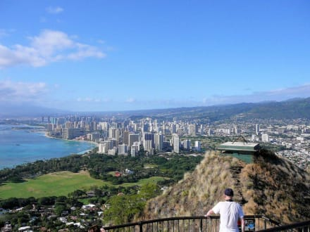 Blick auf Honolulu - Diamond Head