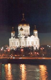 Erlöserkathedrale bei Nacht - Christ-Erlöser-Kathedrale