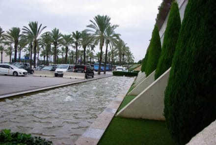 Vor dem Flughafen - Flughafen Palma de Mallorca/Son Sant Joan (PMI)