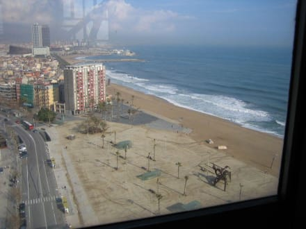 Strand von Barcelona - Hafenseilbahn Barcelona