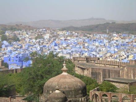 Blick vom Fort auf Jodhpur - Meherangarh Fort