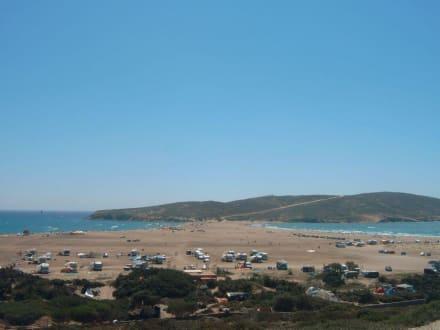 Sandbank vor der Halbinsel Prassonissi - Strand Prasonissi