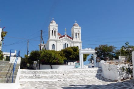 Die Hauptkirche Panagia - Hafen Naoussa