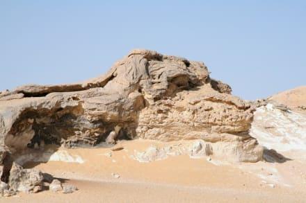 Anfang der weissen Wüste - Weiße Wüste