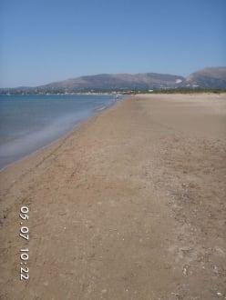 Strandspaziergang Laganas-Kalamaki - Strand Laganas