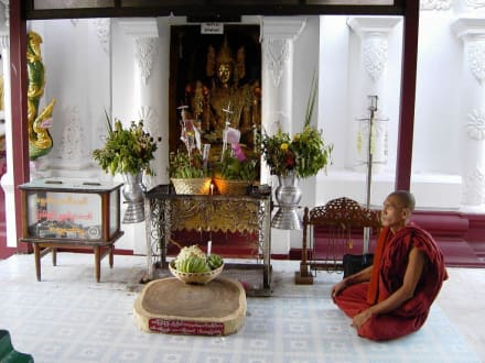 Buddhistischer Mönch - Shwedagon Pagode