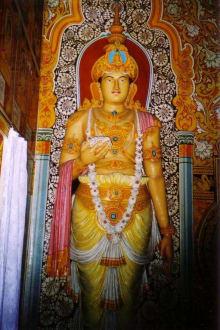 eine Königsabildung - Aluthepola Tempel