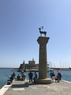 Standort Koloss vom Rhodos  - Hafen Rhodos