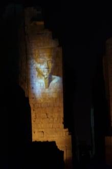 Lichtershow im Karnak Tempel - Amonstempel Karnak