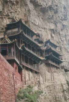 Das Hängende Kloster am Heng Shan. - hängendes Kloster