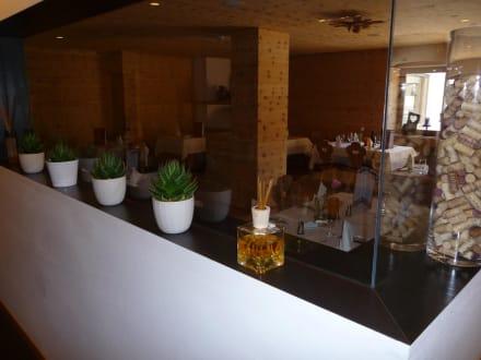 Teil des Restaurant - Hotel Valserhof