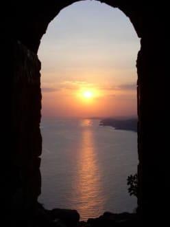 sonnenuntergang in alanya - Burg von Alanya  (Ic Kale)