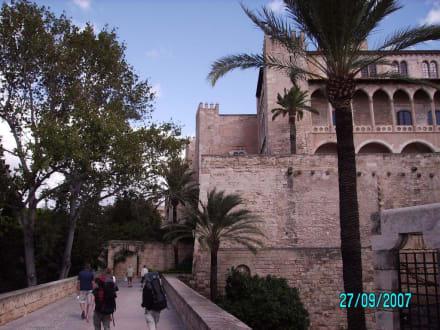 Promenade mit Schloß - Königspalast L'Almudaina