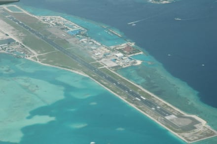Die Landebahn - Flughafen Malé (MLE)