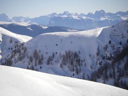 Blick auf die Dolomiten - Wandergebiet Schennaberg