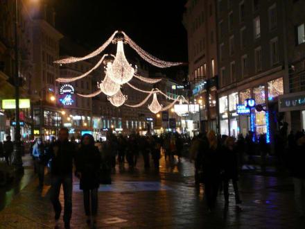 Der Graben, Einkaufsstraße zur Weihnachtszeit - Graben