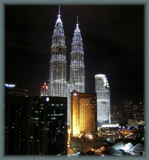 Twin Towers by Night - Petronas Twin Towers