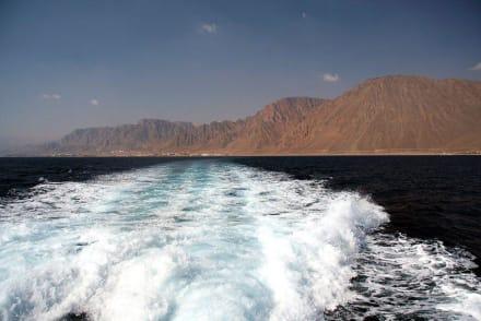 Auf der Fähre von Taba nach Akaba - Ausflug nach Jordanien und Israel
