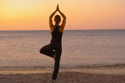 Yoga at the beach -