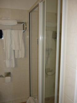 Badezimmer Dusche - Apartment-Hotel Hamburg Mitte