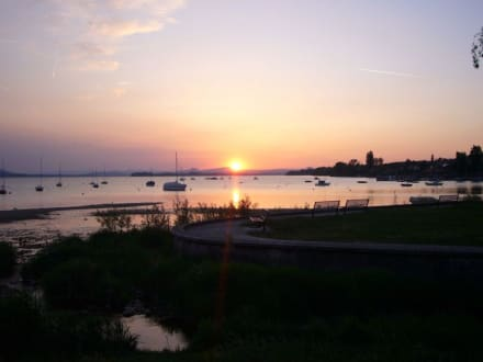 Sonnenuntergang am Gnadensee - Restaurant am Seegarten