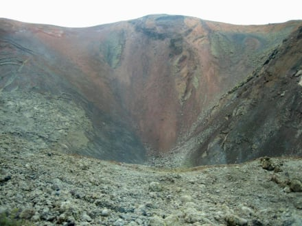 Blick in den Krater - Nationalpark Timanfaya (Feuerberge)