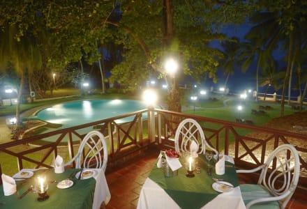 Terrace of the restaurant  -